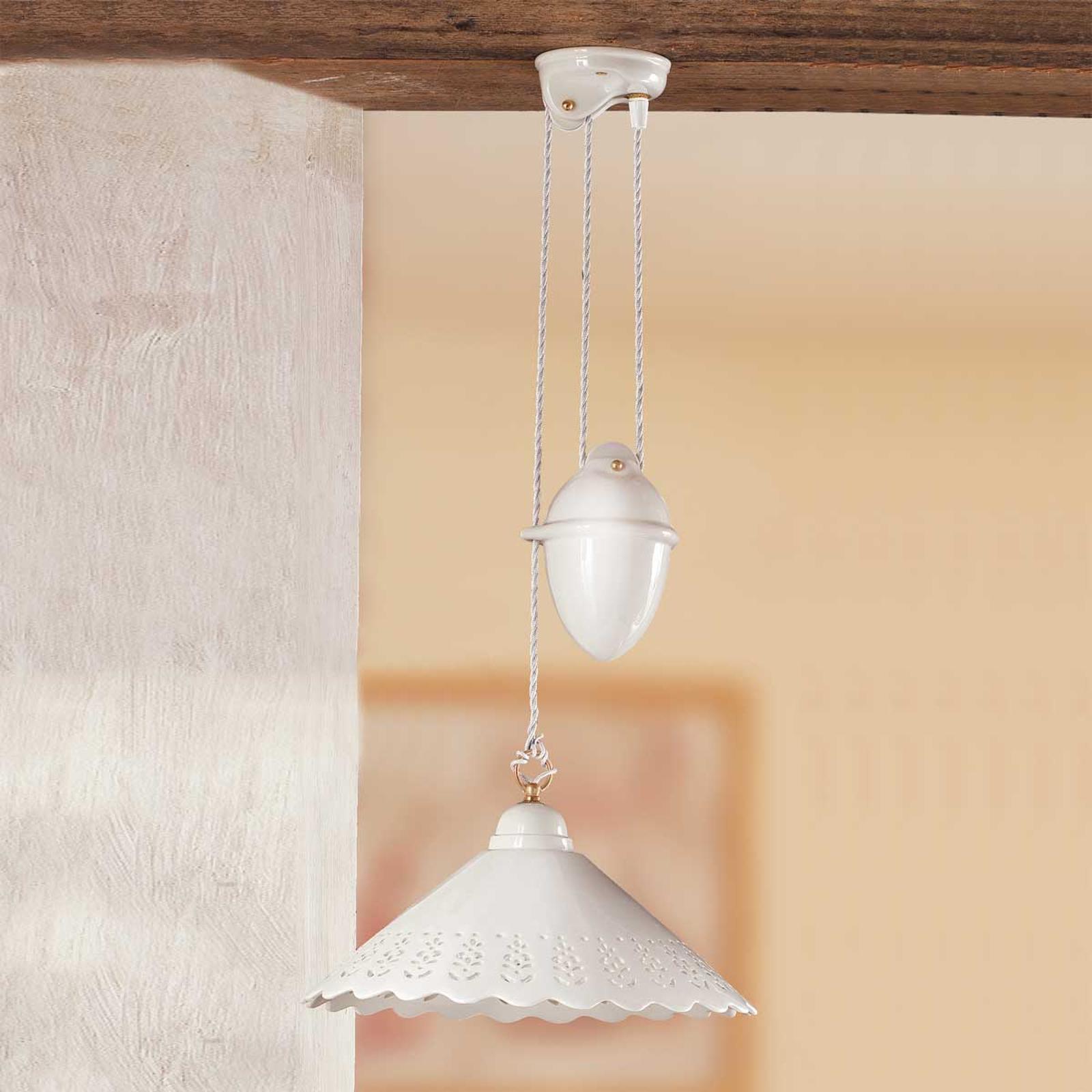 Lámpara colgante Pizzo, mecanismo rotatorio, 1 luz