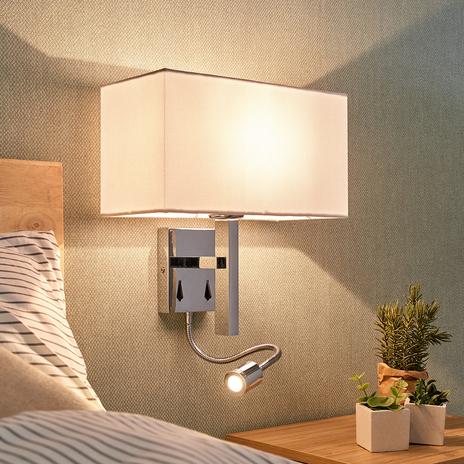 Lampa ścienna Pelto, ramię z lampką 2 przełączniki