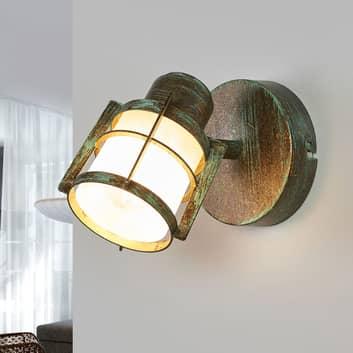 Giorgi - væglampe i spanskgrønt optik