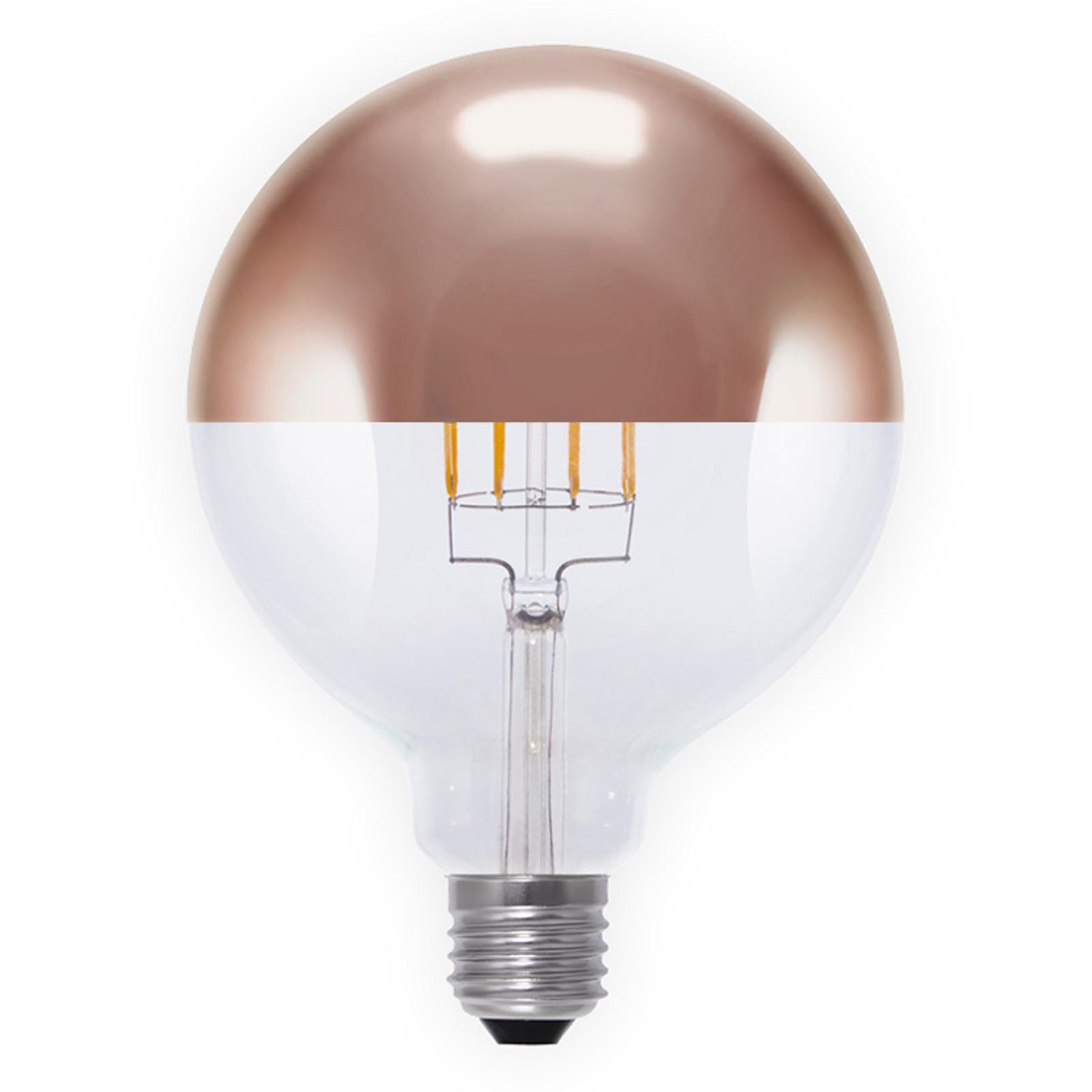 Ampoule LED à tête miroir E27 8W 926 G125 cuivrée