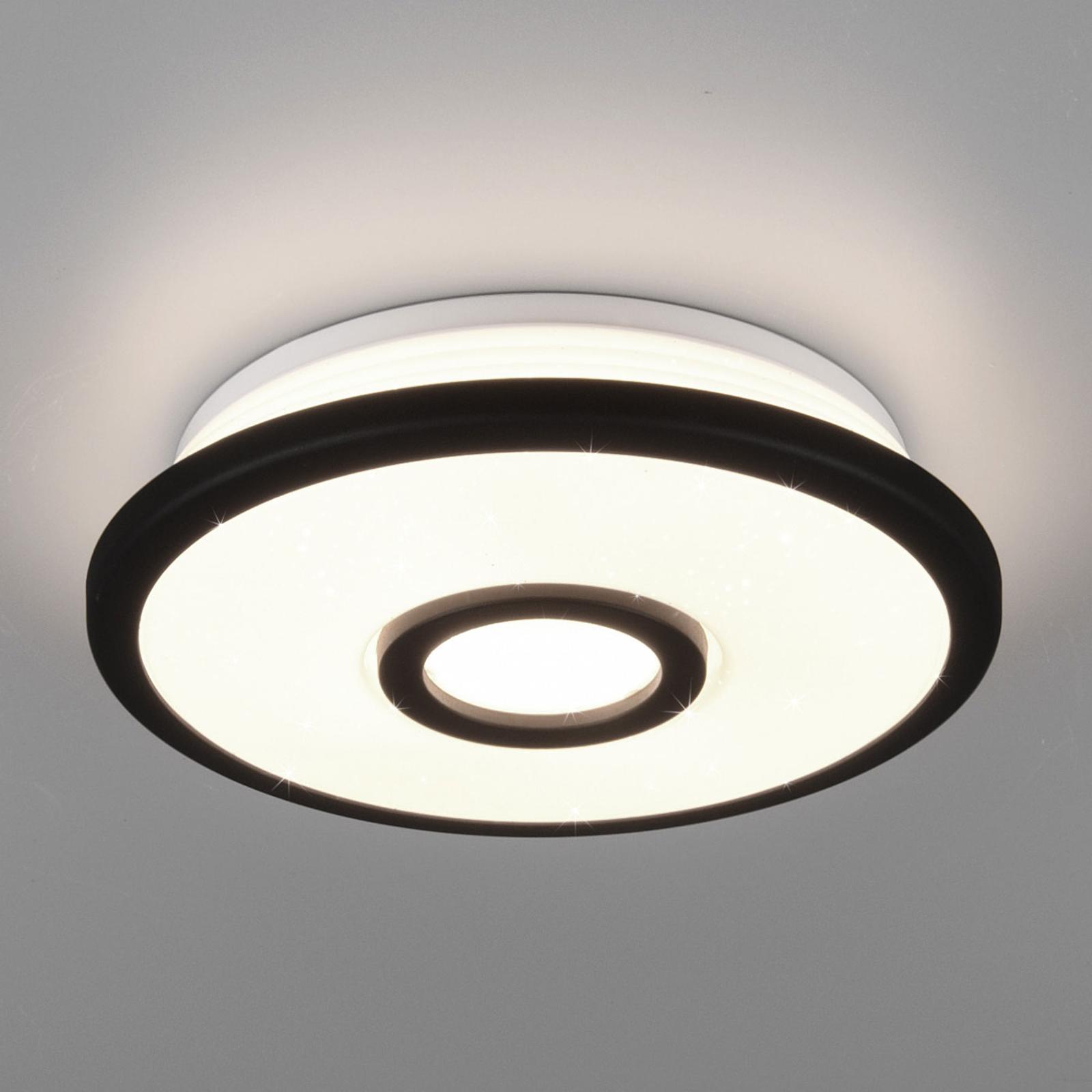 LED plafondlamp Okinawa, Starlight-effect, Ø 21 cm