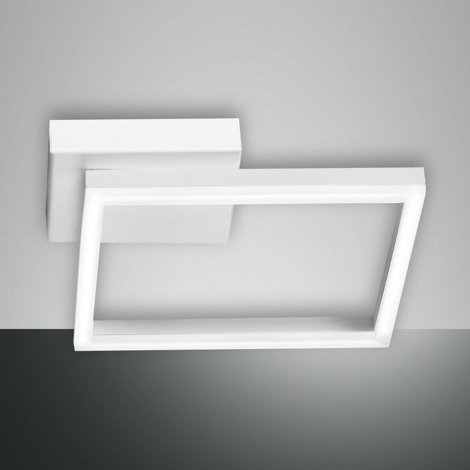 Plafonnier LED Bard, 27x27cm, blanc