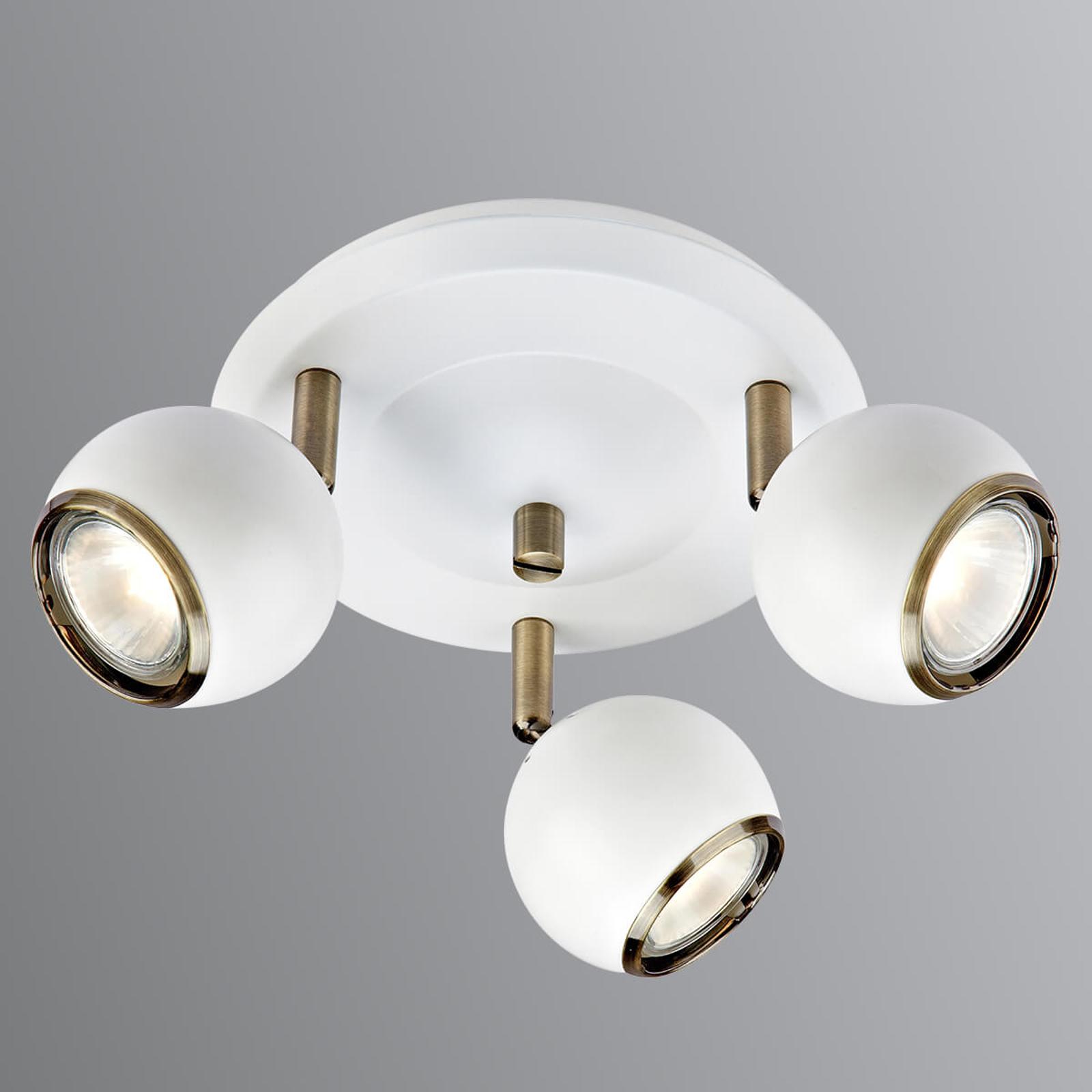 Coco - plafondlamp met drie lampen in wit