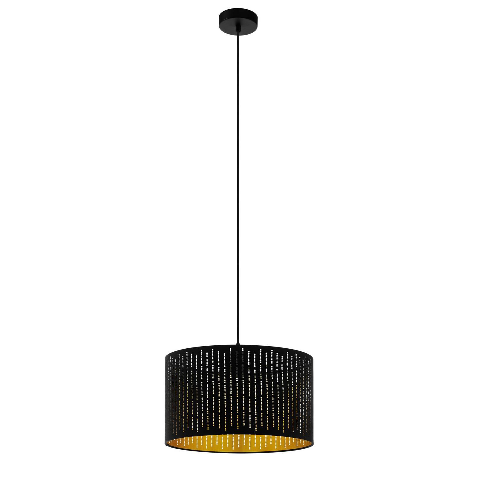 Hanglamp Varillas in zwart/goud, 38 cm