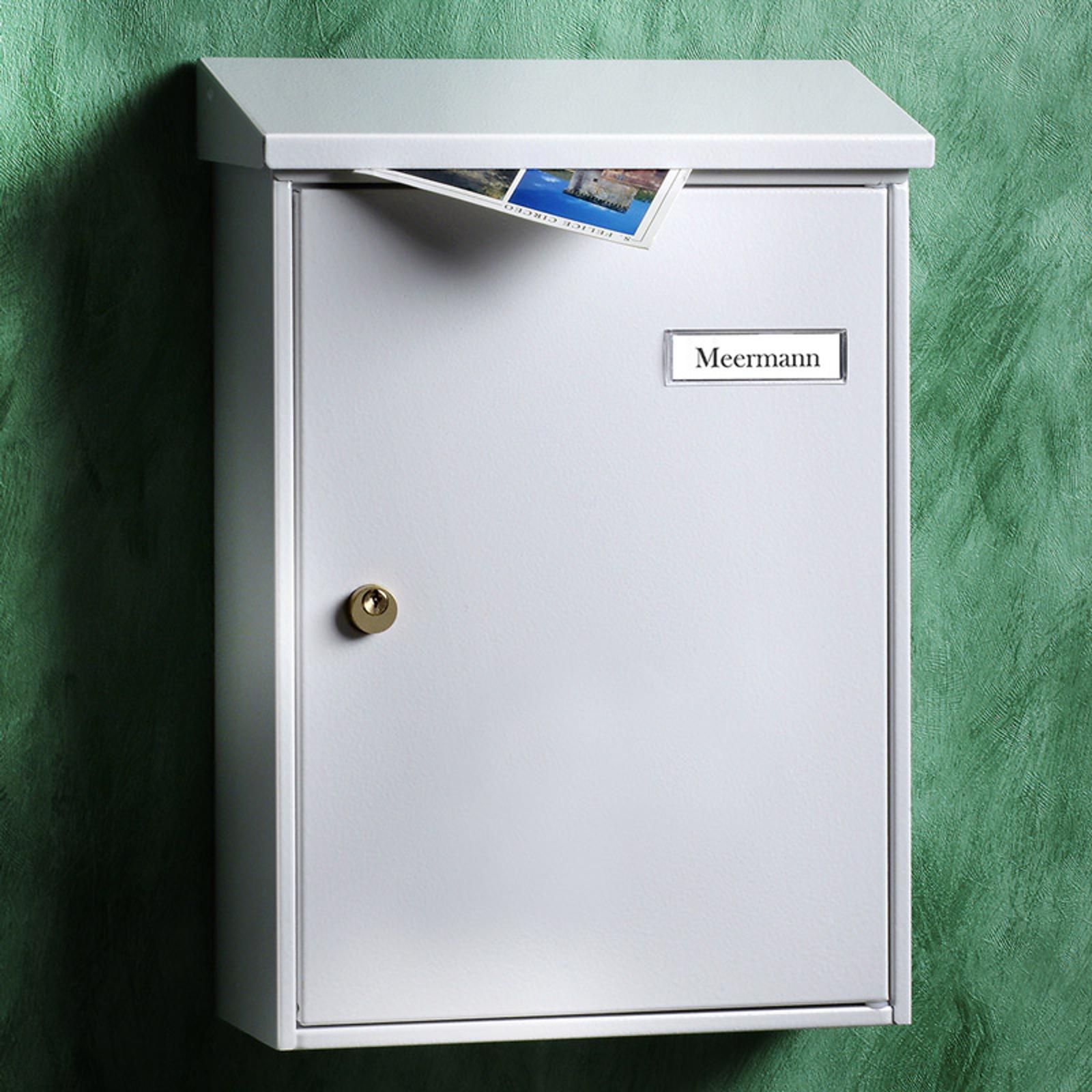 Bíle lakovaná prostá poštovní schránka Letter 5832
