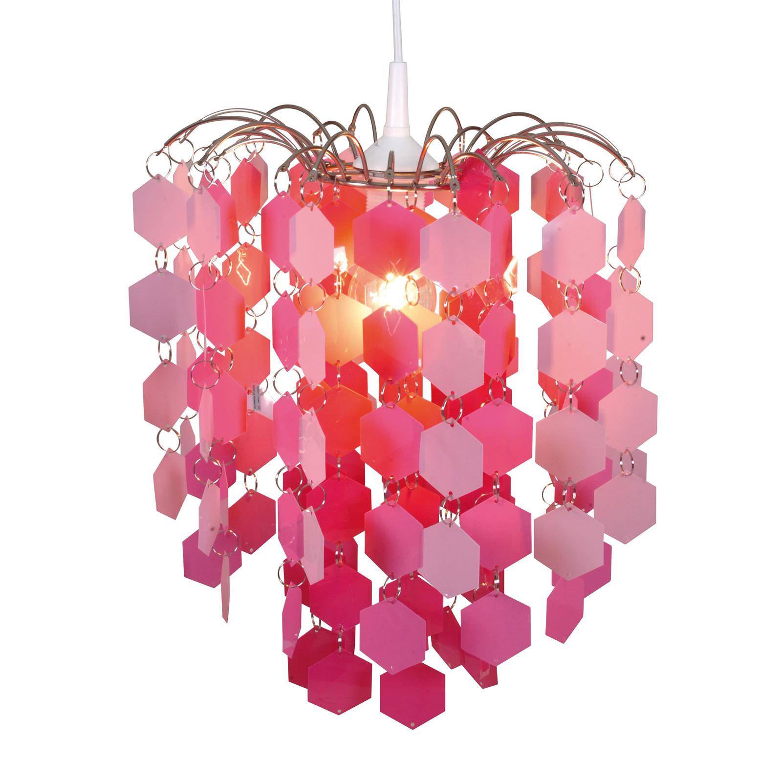 Lampada sospensione 6008519 con pendenti rosa