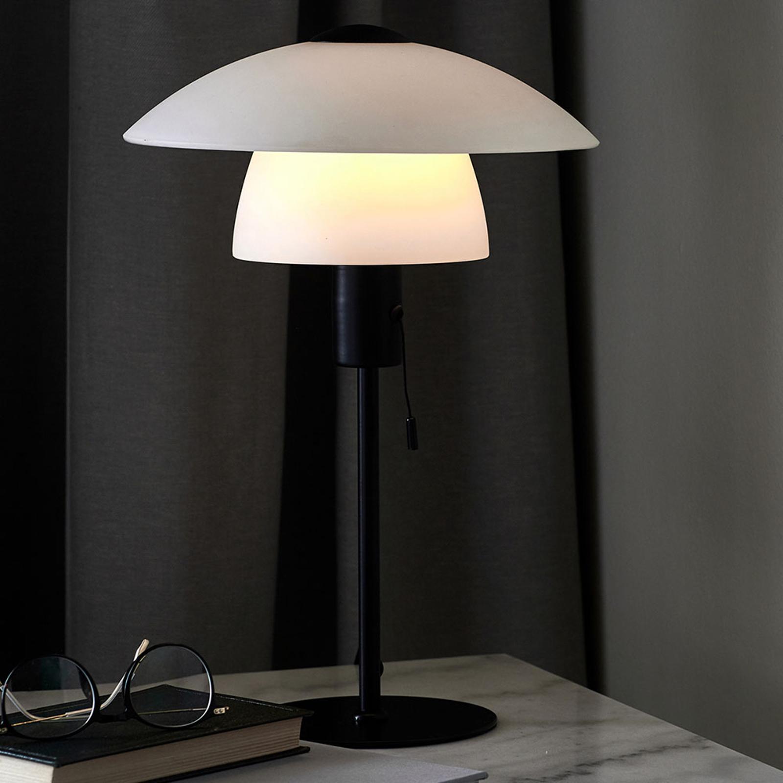 Lampe à poser Verona, blanche et noire
