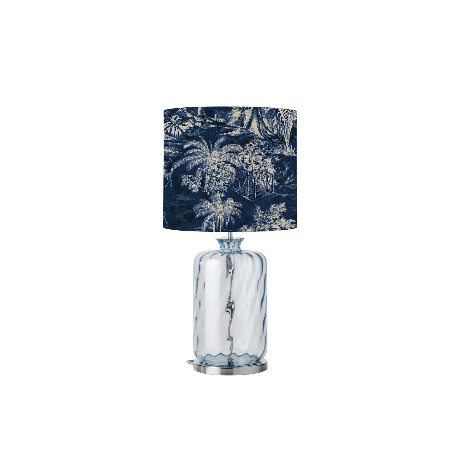 EBB & FLOW Pillar Tischlampe, Palms indigo/blue