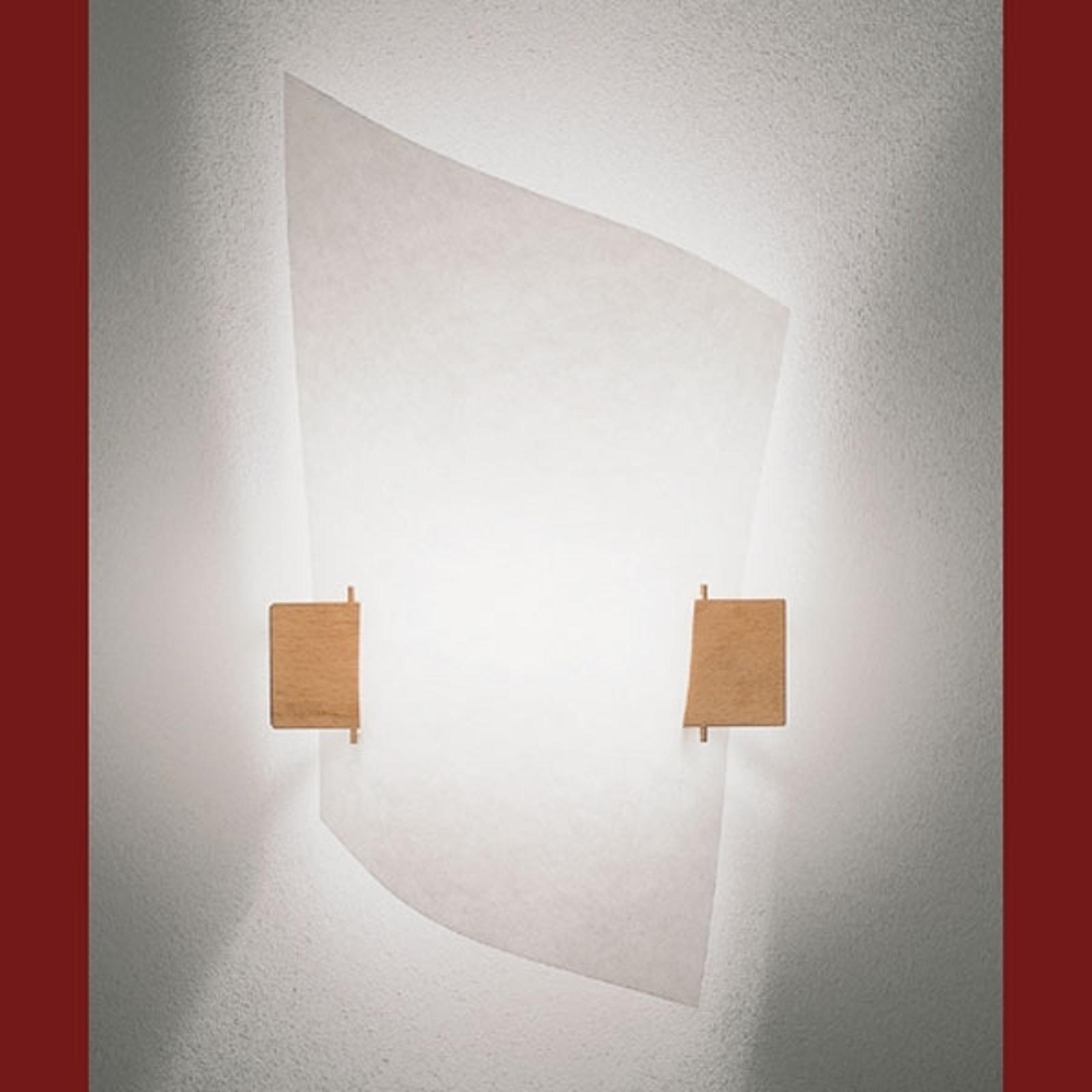 PLAN B design-væglampe med lyst træ