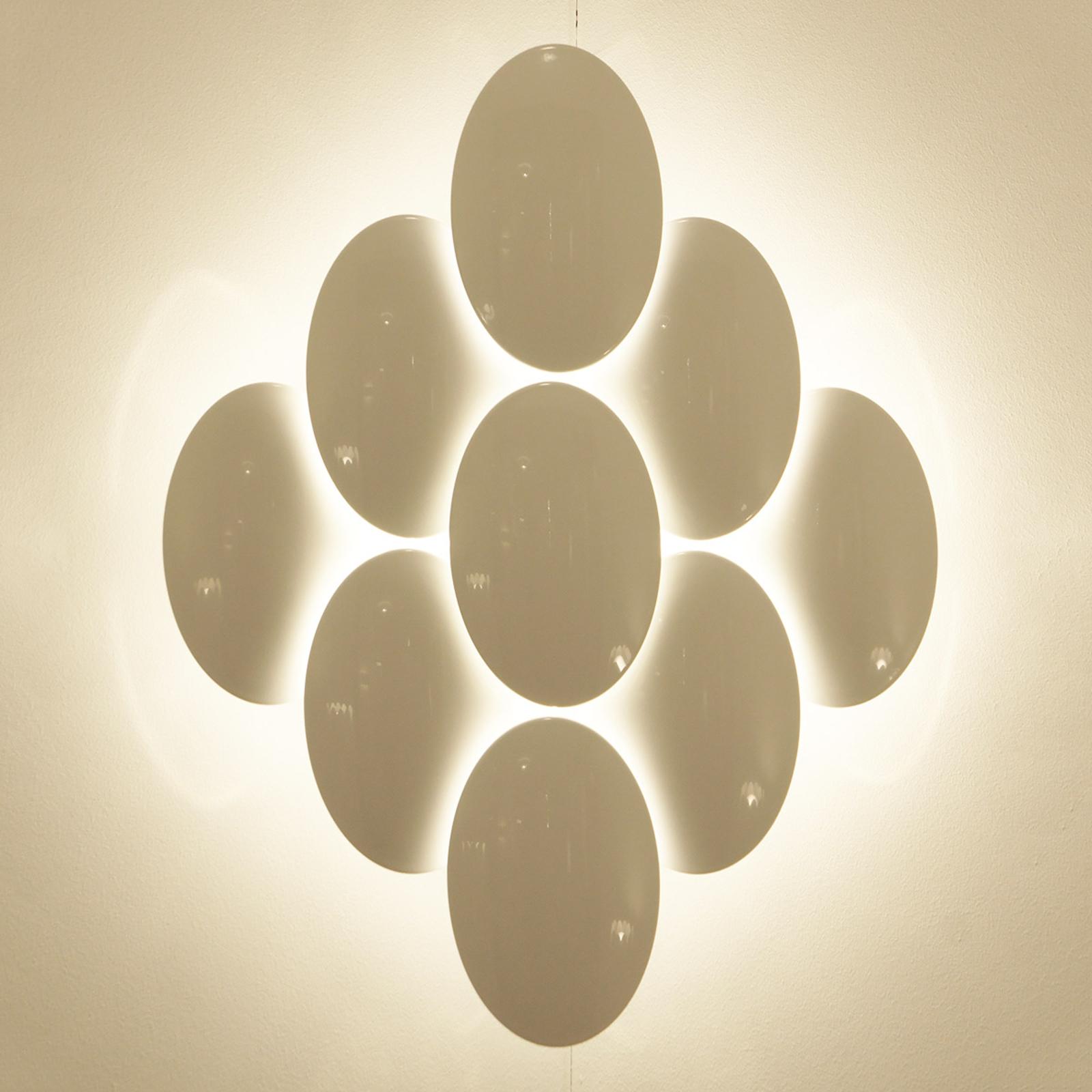 Piękna lampa ścienna LED OBOLO, ściemn. 8-pkt.