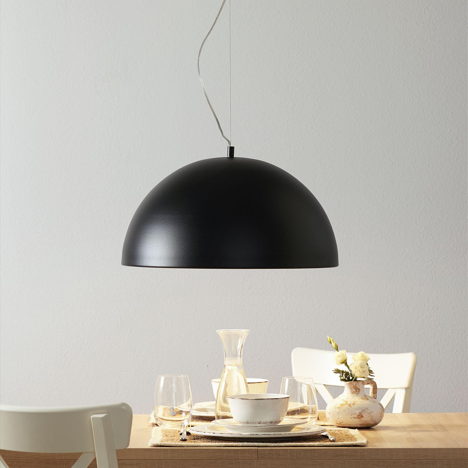 Lucande Maleo lampa wisząca 53cm czarna