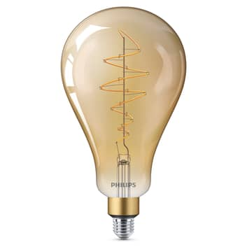 Philips E27 Giant LED-pære 6,5W guld, kan dæmpes