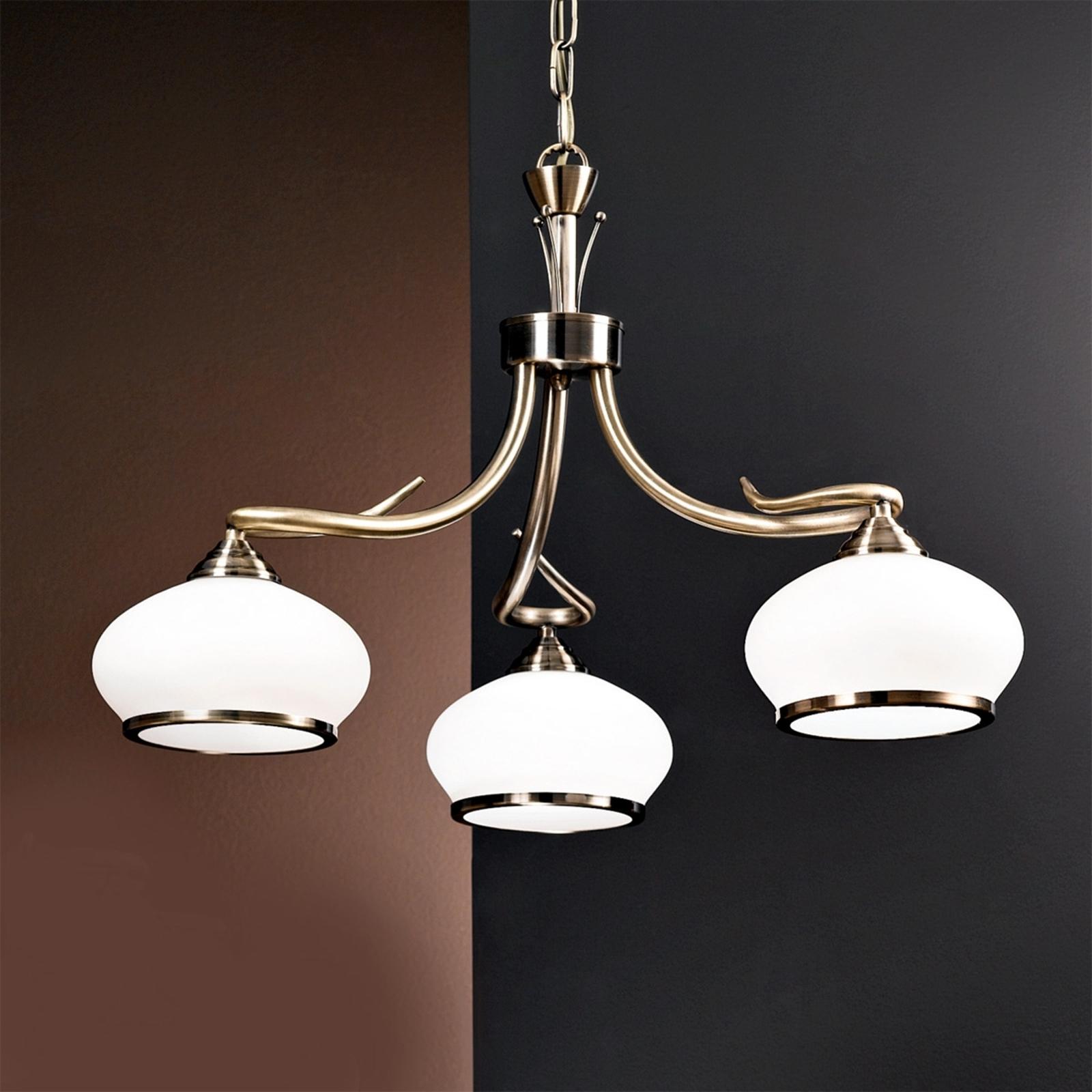 Smaakvolle hanglamp Elvira, 3-lichts