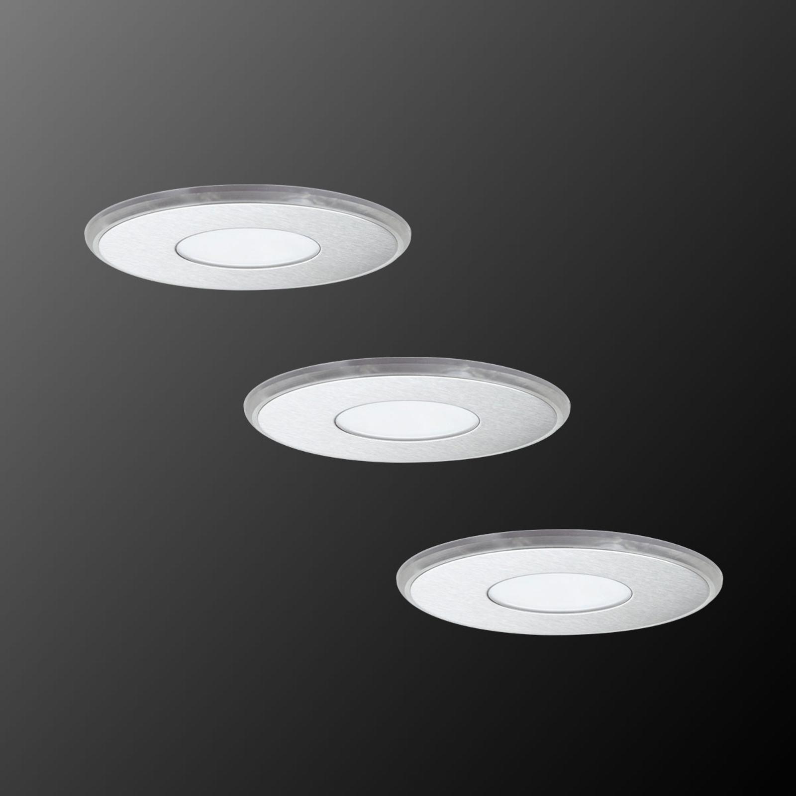 LED-innfellingslampe Deco Up-Down, sett på 3, IP44