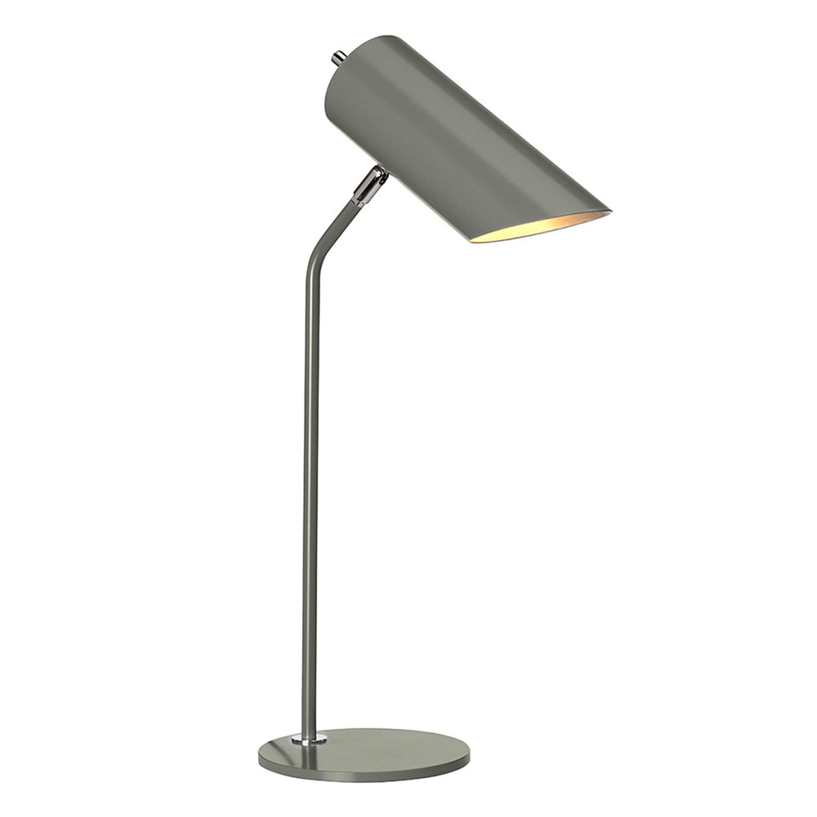 Lampe à poser Quinto gris foncé/nickel