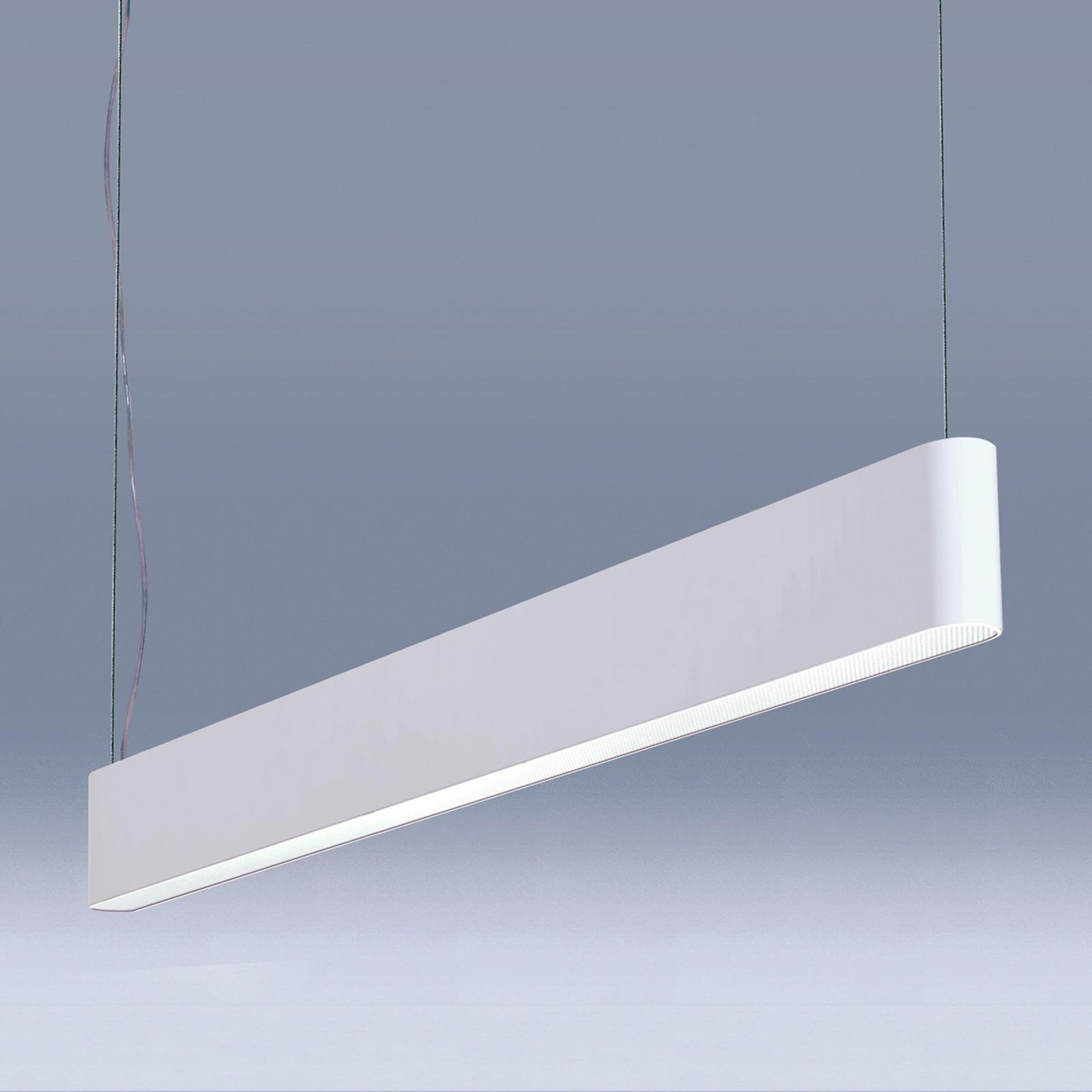Biała lampa wisząca LED Caleo-P4, 118,2 cm, 62W