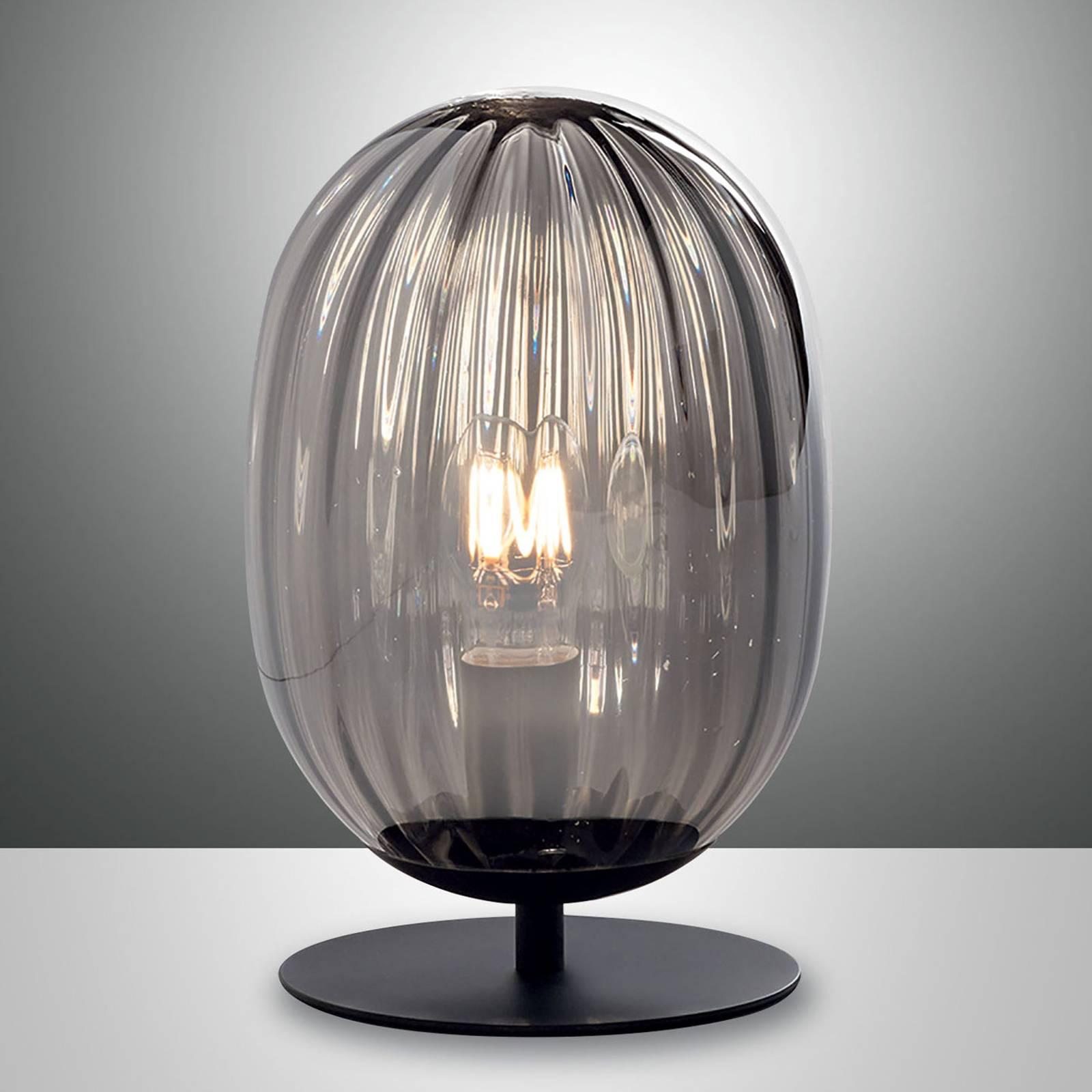 Lampe à poser Infinity avec abat-jour verre arqué