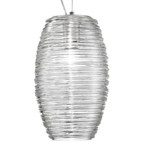 Lámpara colgante LED Damasco transparente