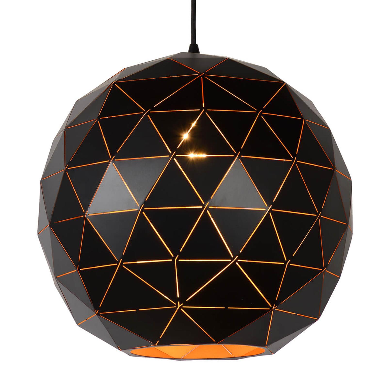 Czarna lampa wisząca Otona z metalu