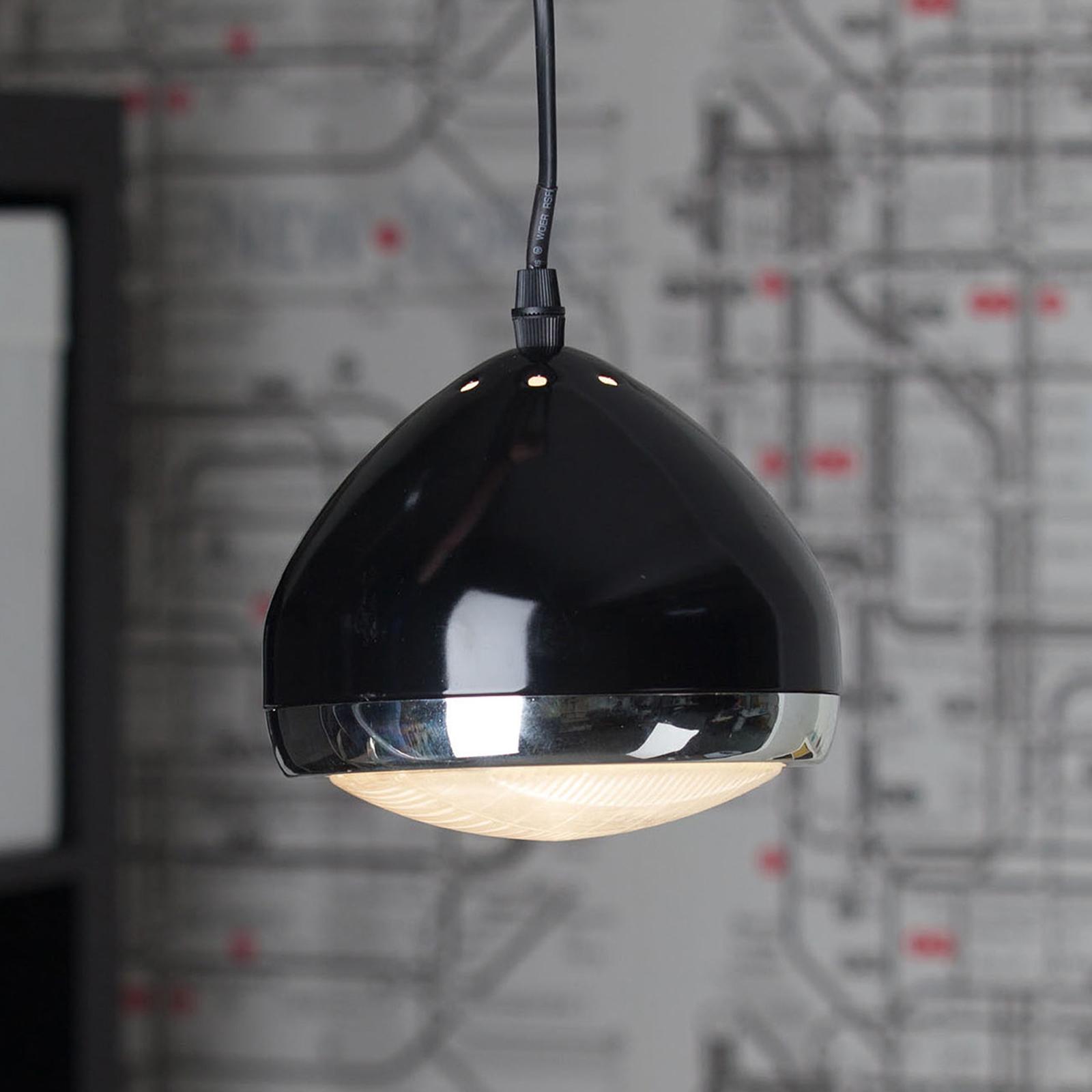 Suspension 1 lampe RIDER noire