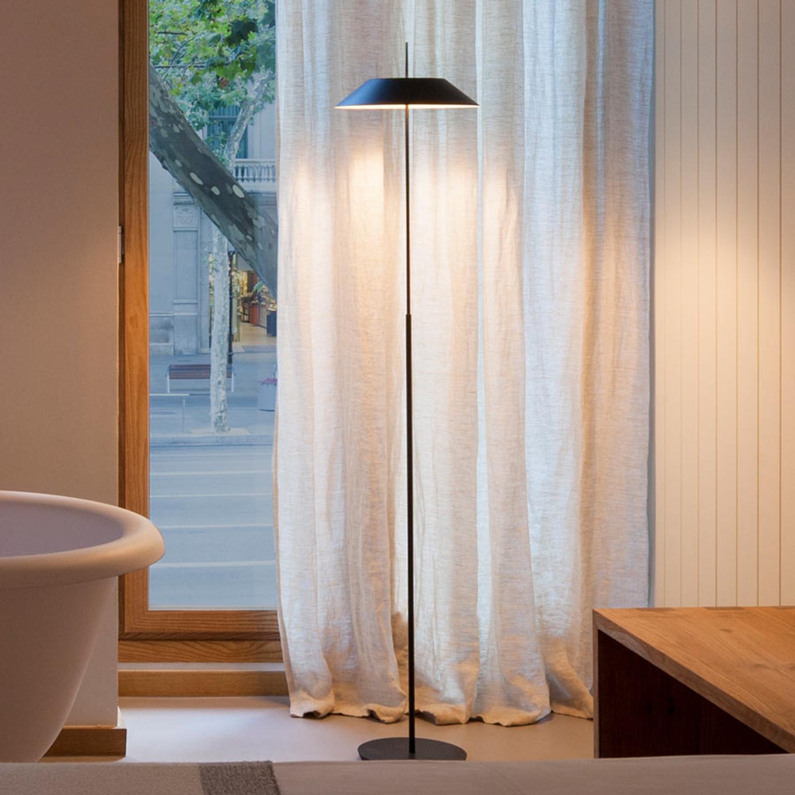 Mayfair – szarografitowa lampa stojąca LED