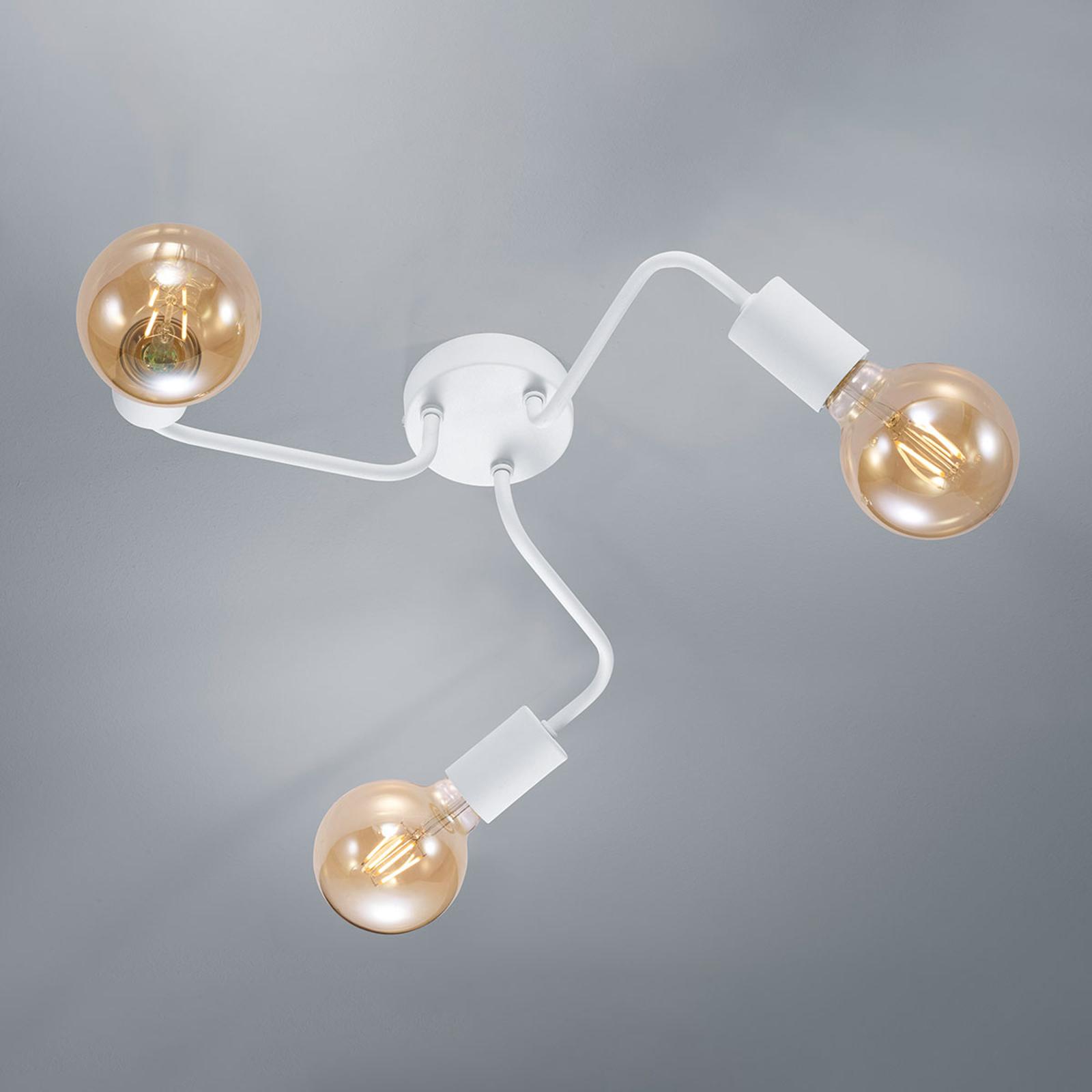 Lampa sufitowa Diallo 3-punktowa biała matowa