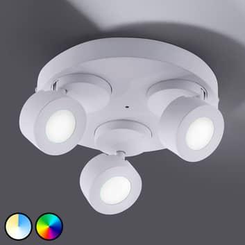 Trio WiZ Sancho -LED-kattovalaisin, 3-lamppuinen
