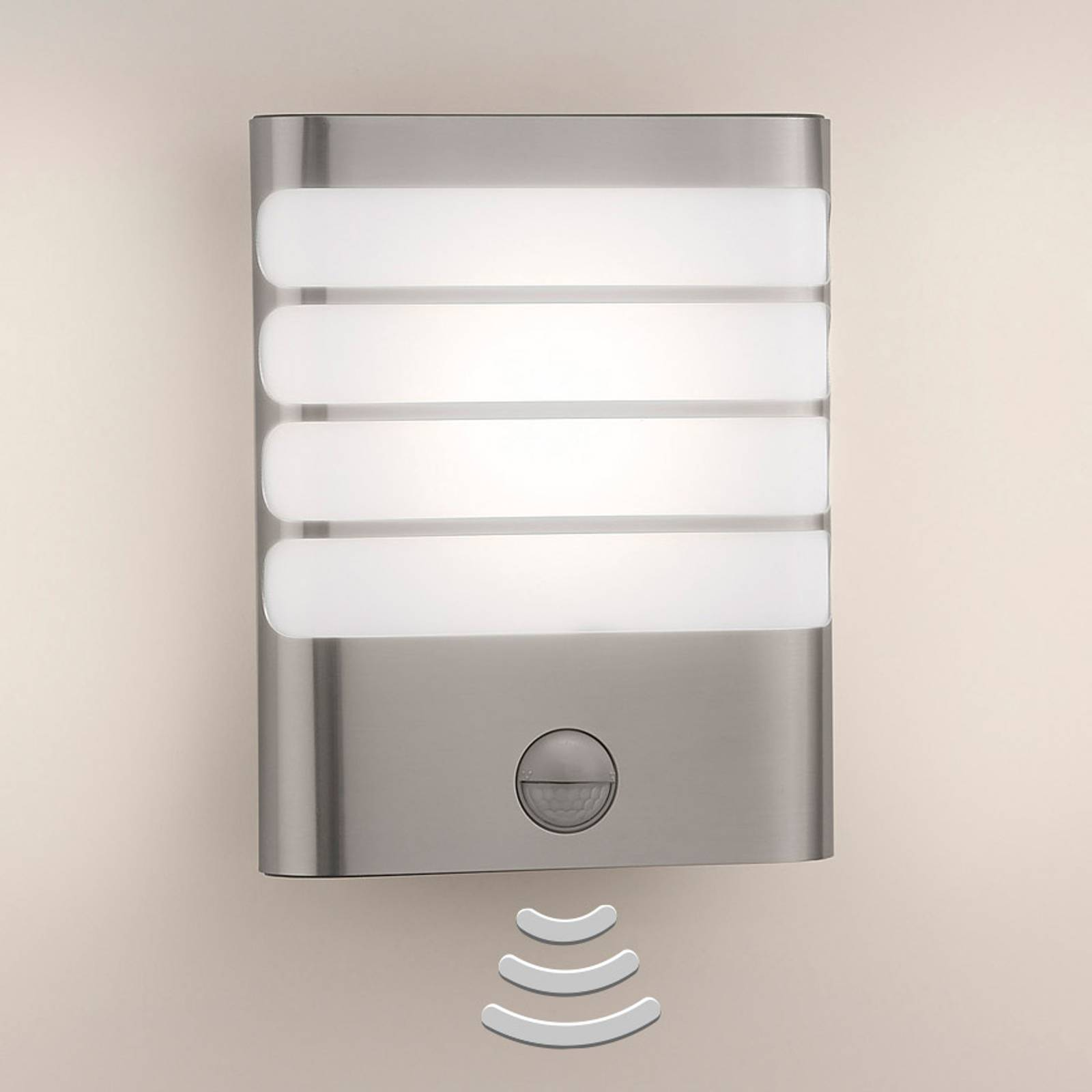 Philips Raccoon LED-buitenwandlamp roestvrij staal