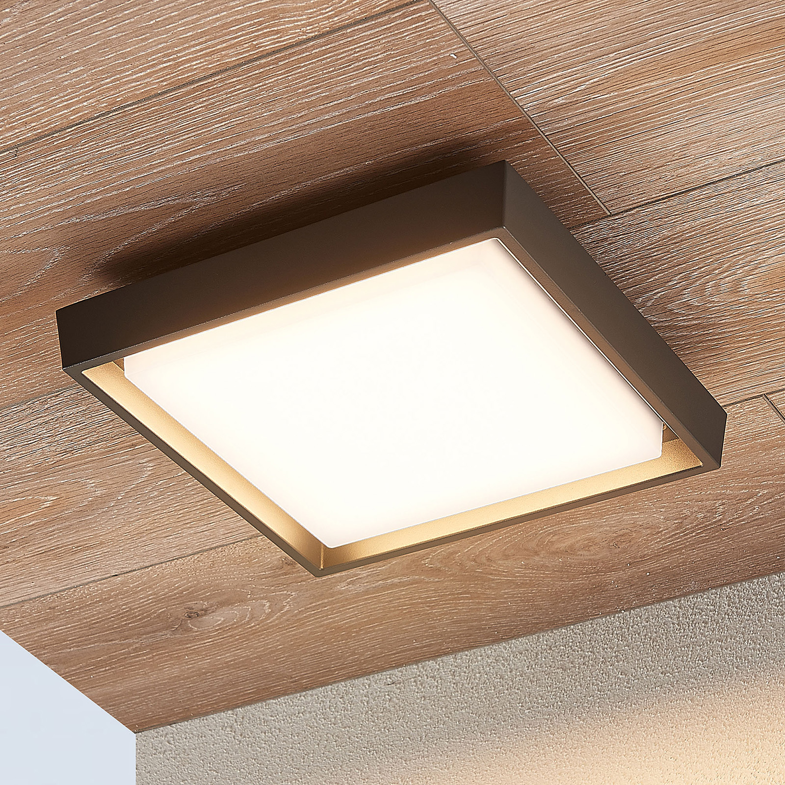 Birta LED outdoor ceiling light, angular, 27 cm_9969131_1