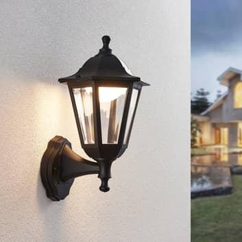 LED venkovní nástěnná lucerna Iavo v černé