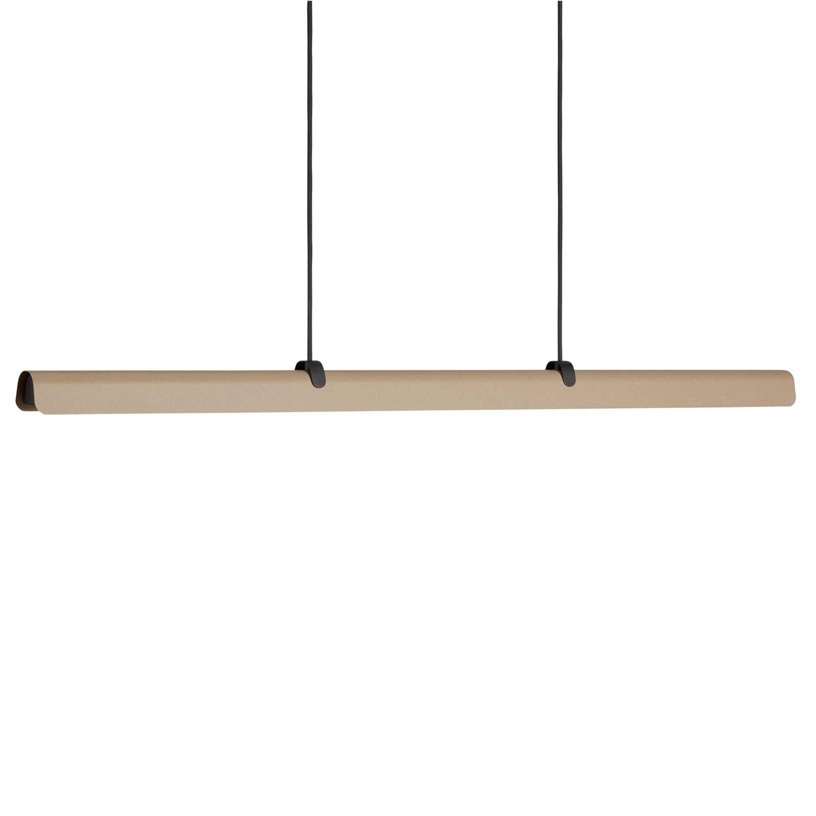 LED-Hängeleuchte Fold, dimmbar, sandfarben