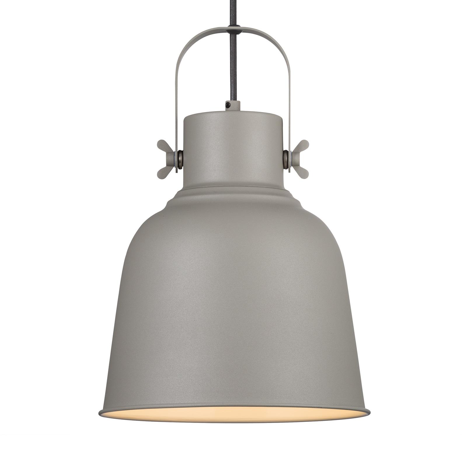 Hanglamp Adrian in grijs, Ø 25cm