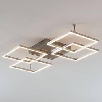 Plafonnier LED Quadra, dimmable, 4 lampes, 80,5cm