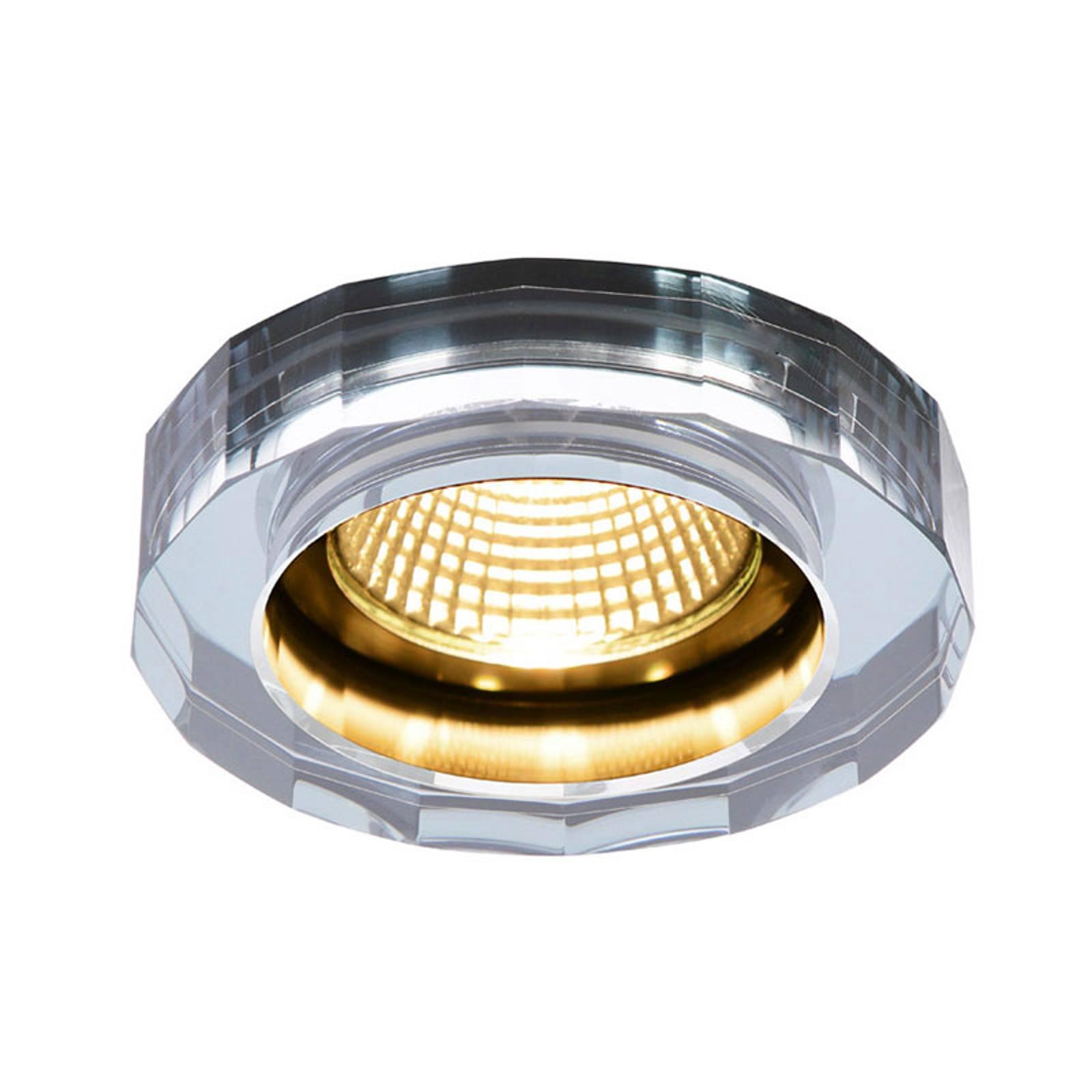 SLV Crystal LED inbouwspot dim to warm, chroom