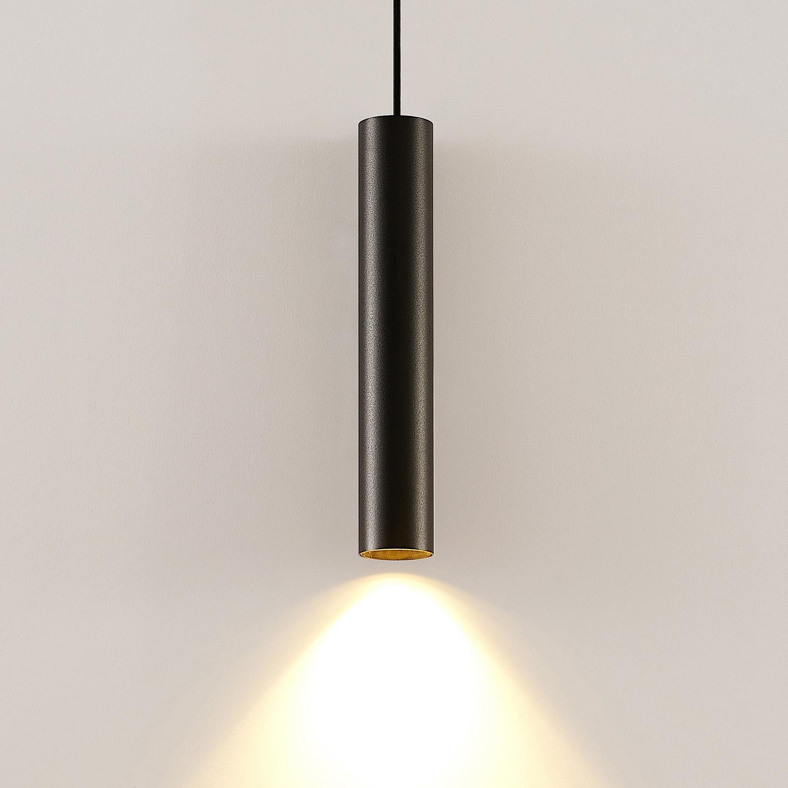 Arcchio Ejona závěsné světlo, výška 35 cm, černá