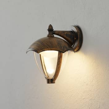LED-Außenwandlampe Gracht Downlight rostfarben