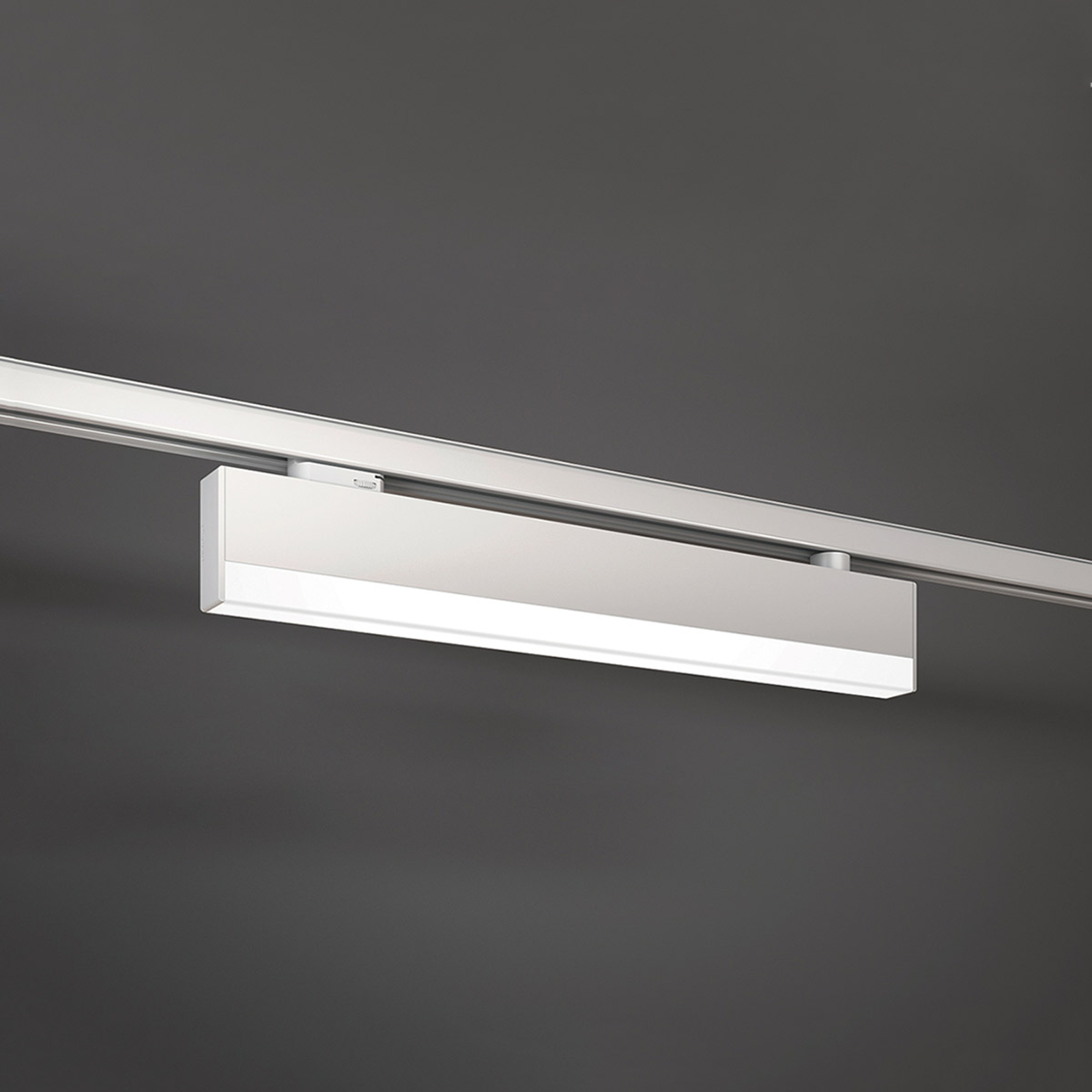 Lampada LED chiara per binario a 3 fasi bianco