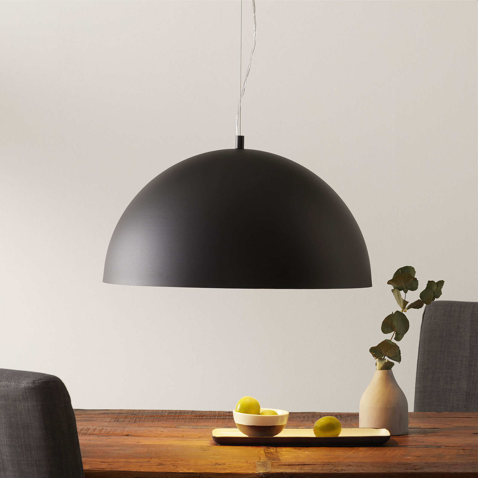 Hanglamp Gaetano 1 zwart/goud