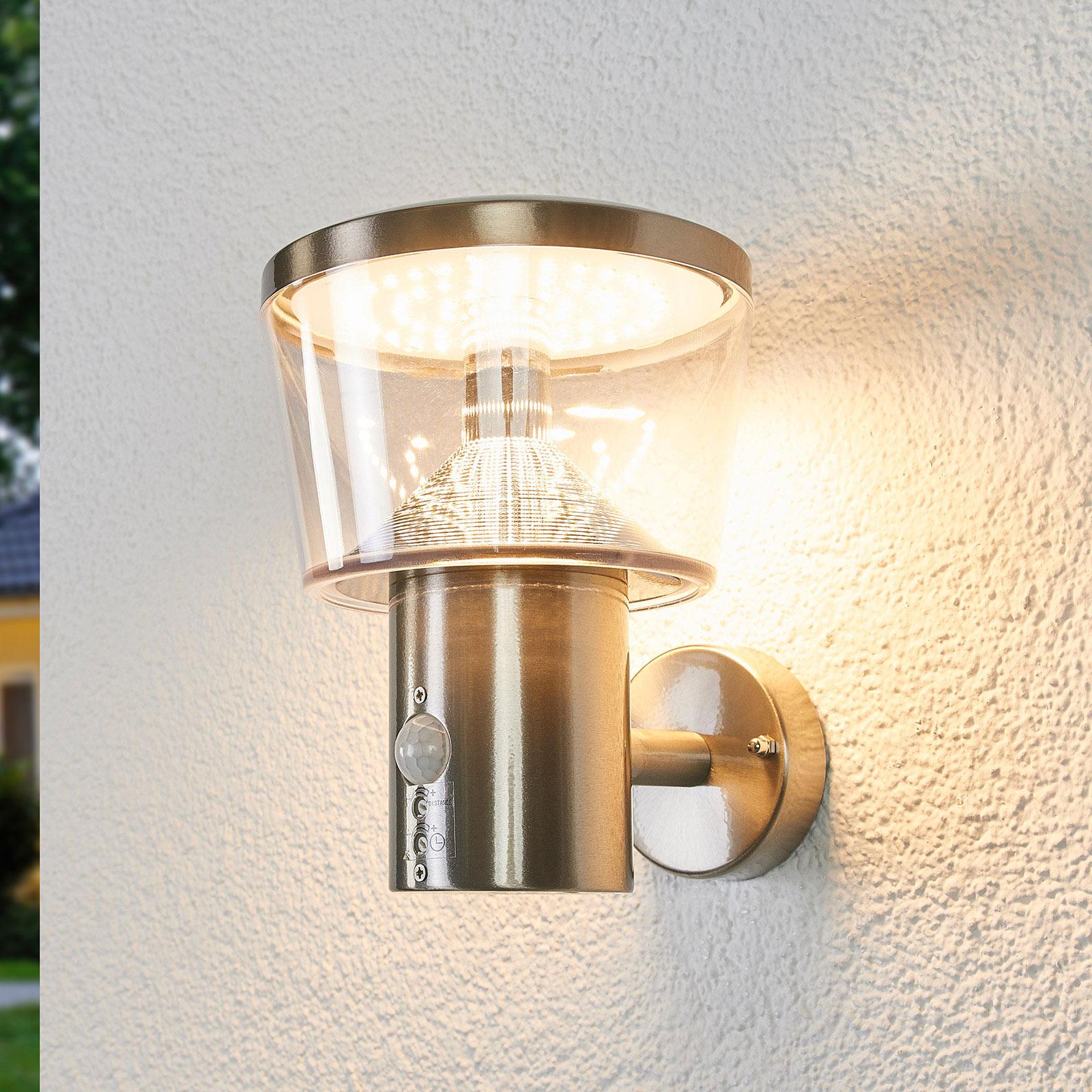 Sensor-utomhusvägglampa Antje med LED-ljuskällor