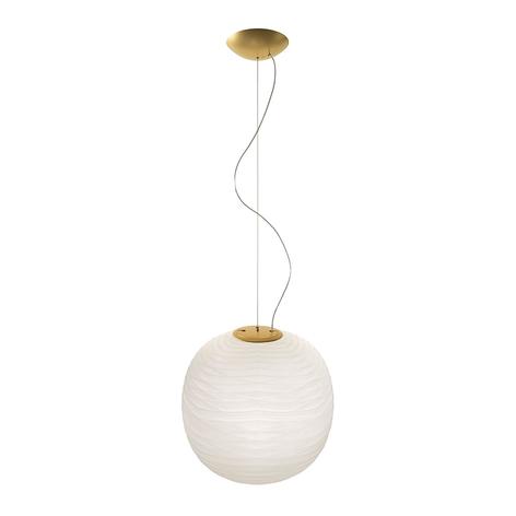 Foscarini Gem lampada sospensione di vetro, oro