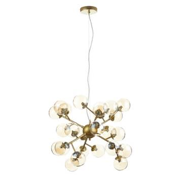 Hanglamp Dallas met 24 glasbollen, goud