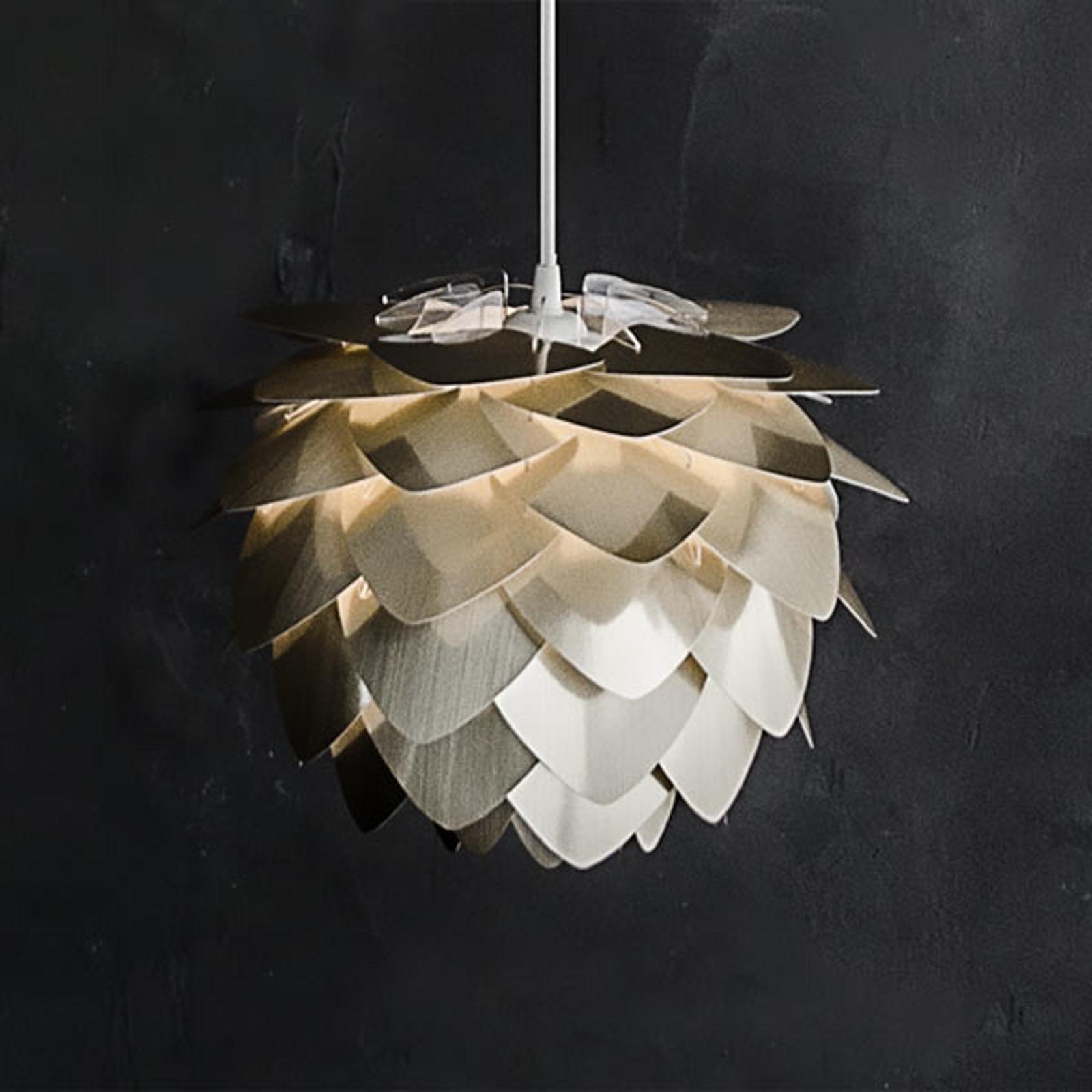 Lampa wisząca Silvia mini, szczotkowany mosiądz