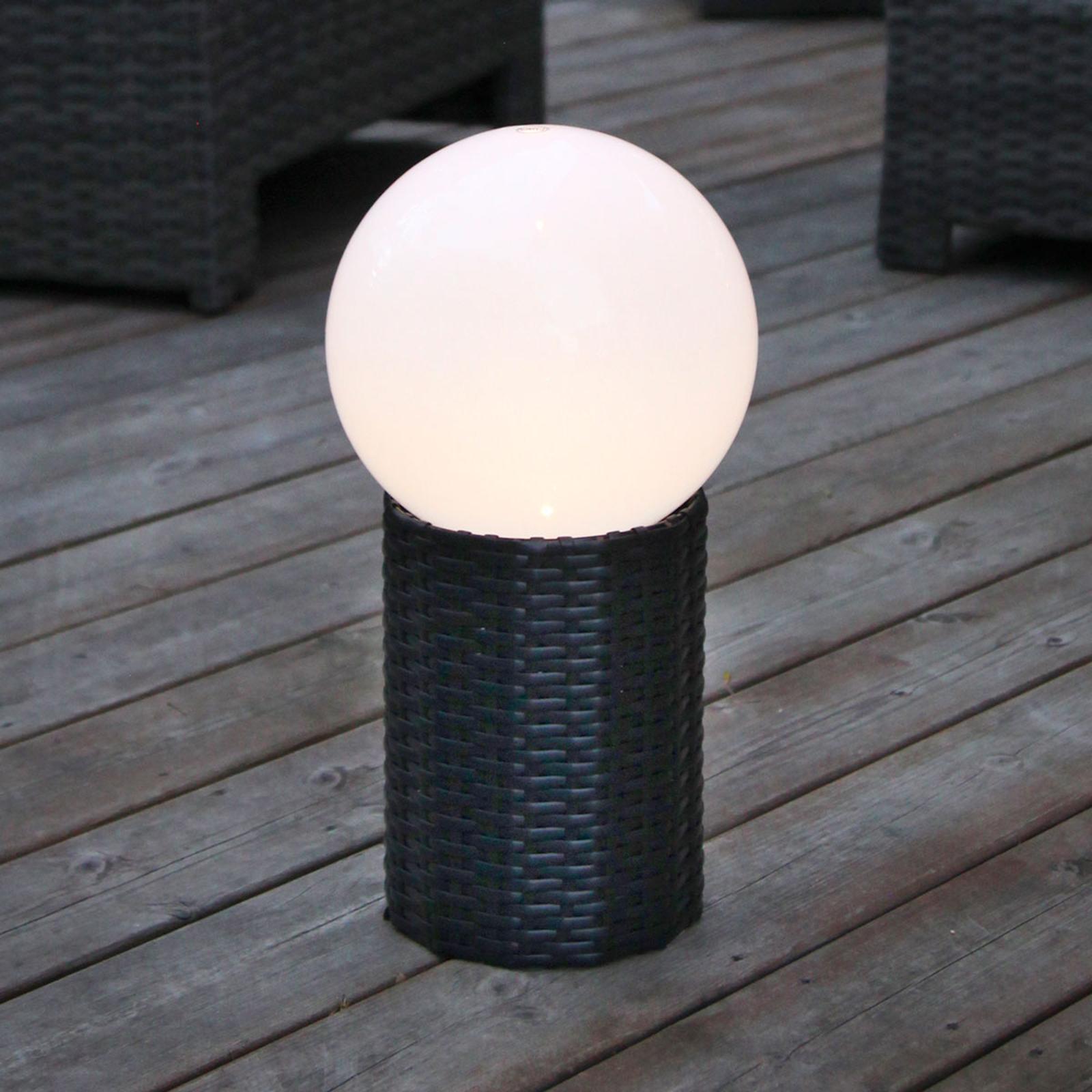 Jalallinen LED-aurinkokennopallo Lug, Ø 15 cm