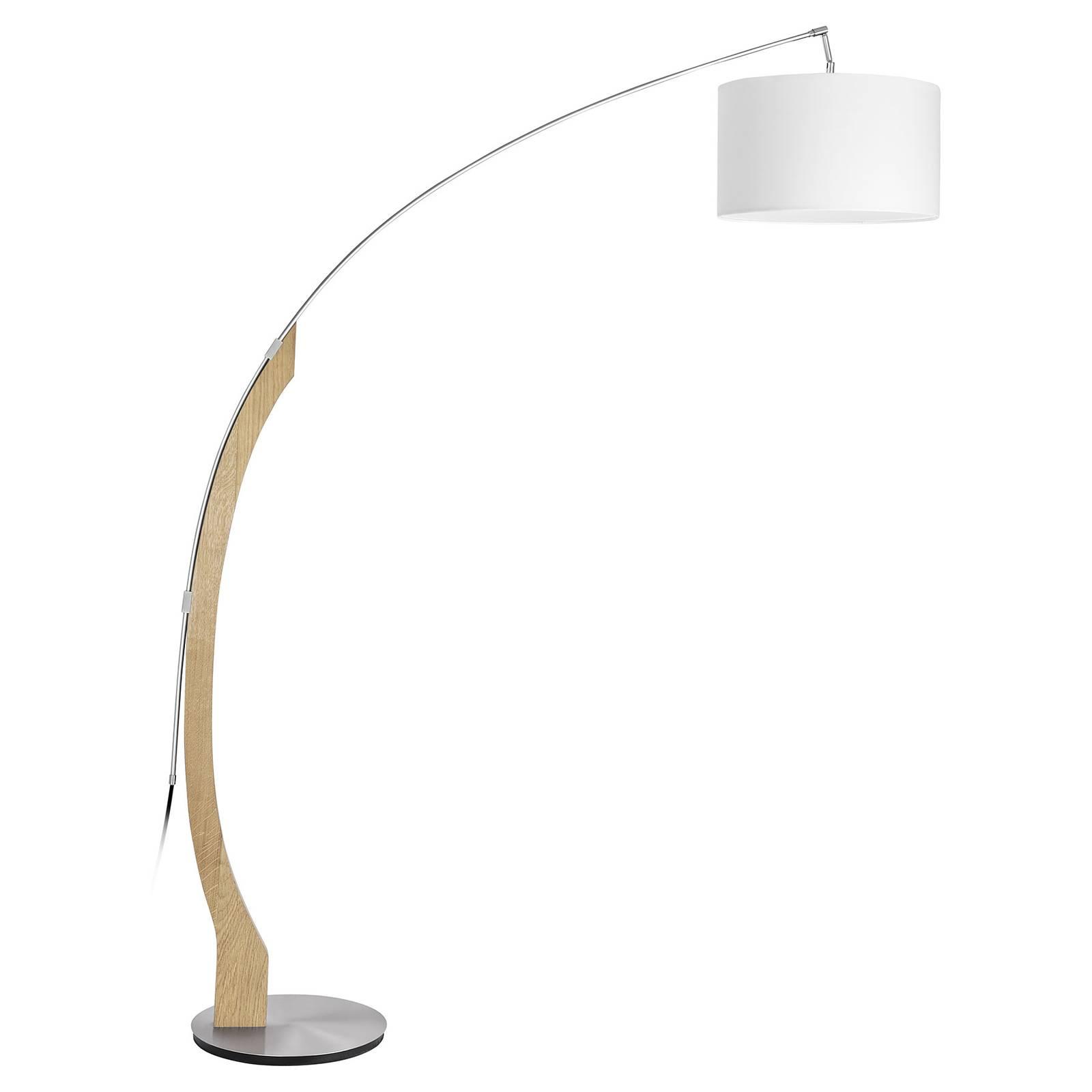 HerzBlut Amos lampadaire arqué, chêne naturel