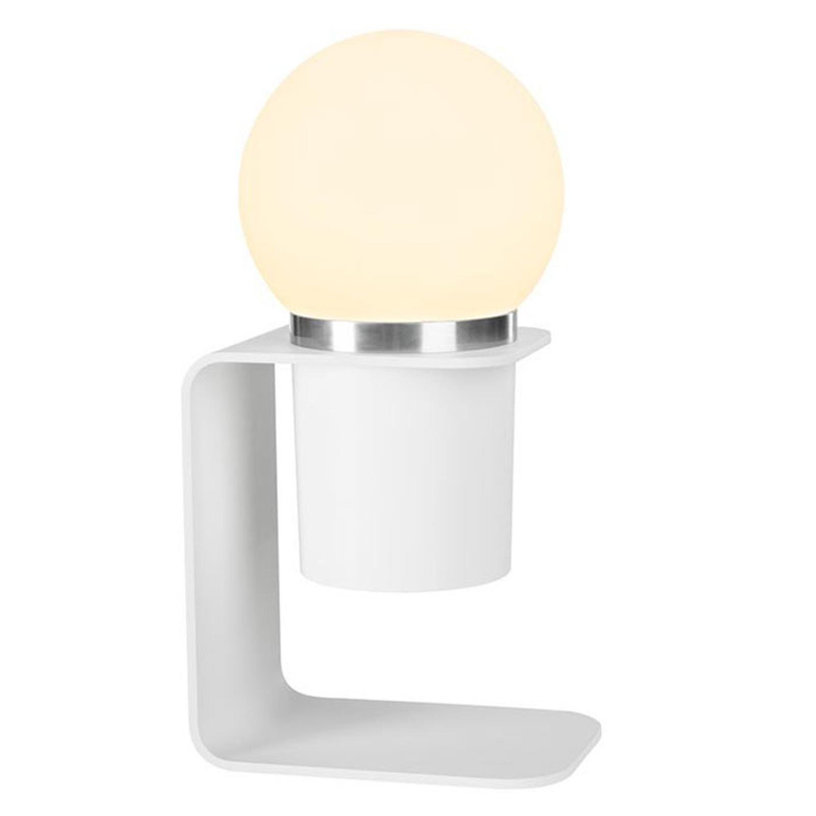 SLV Tonila LED-Tischleuchte weiß/aluminium