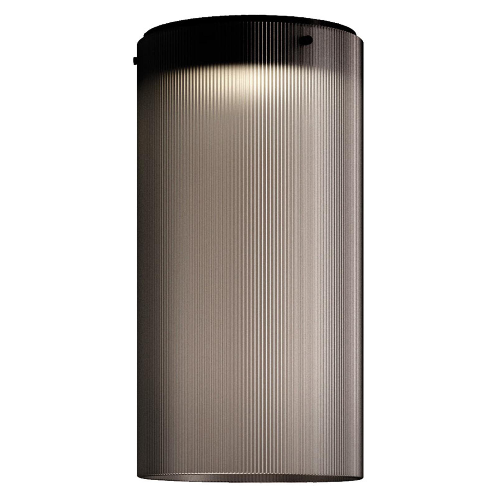 Kundalini Giass - plafonnier LED, Ø 25cm, gris