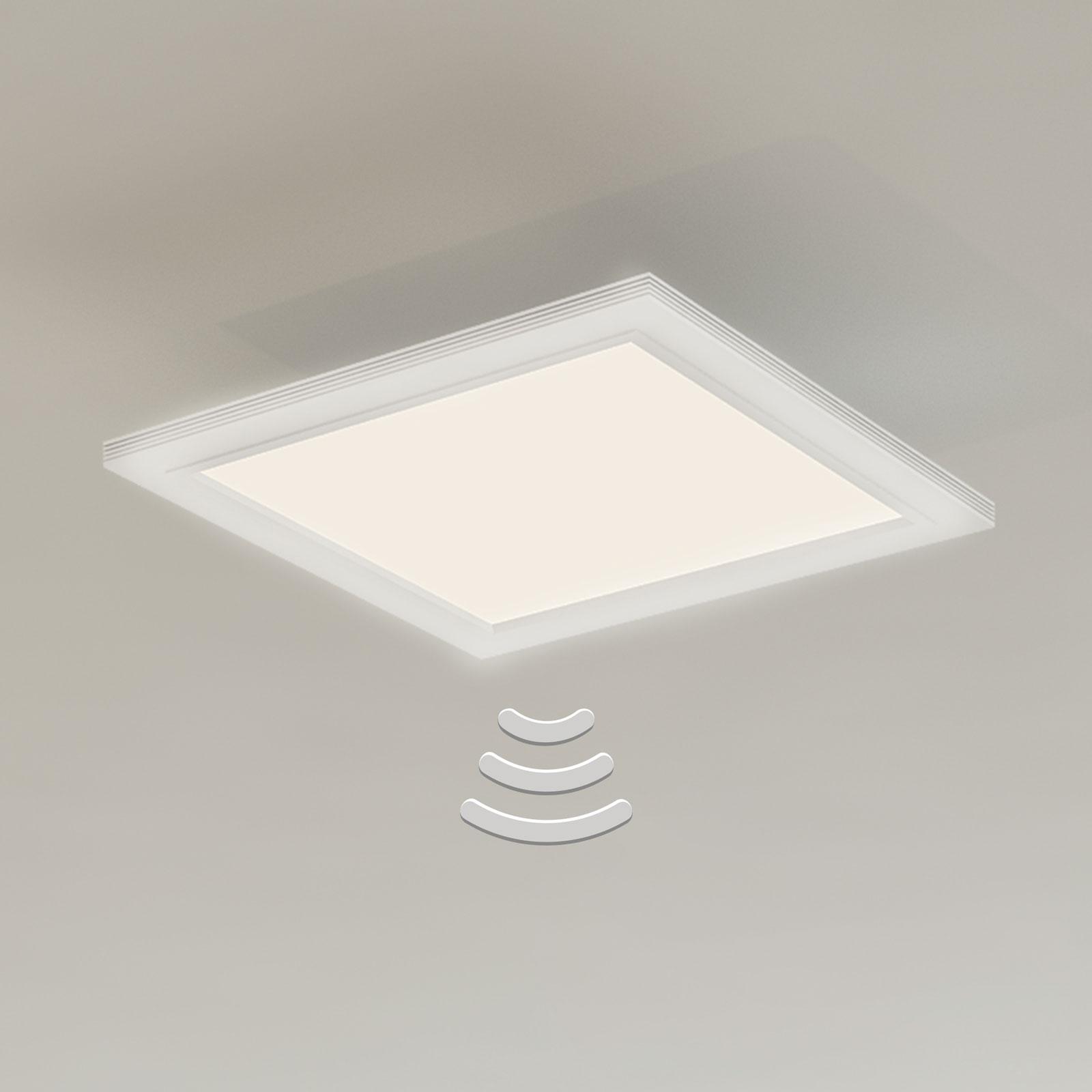 7187-016 LED-taklampe med sensor, 29,5 x 29,5 cm