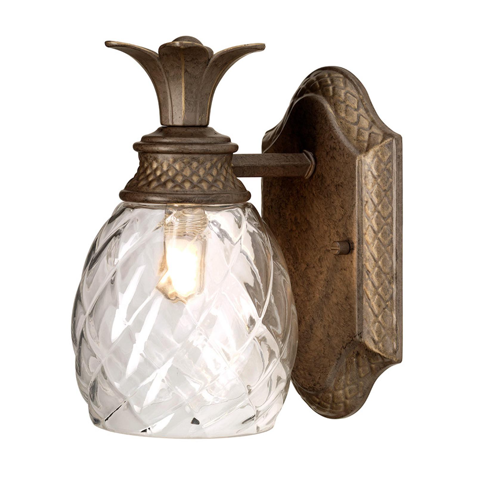 Plantation LED-væglampe, nedad strålende
