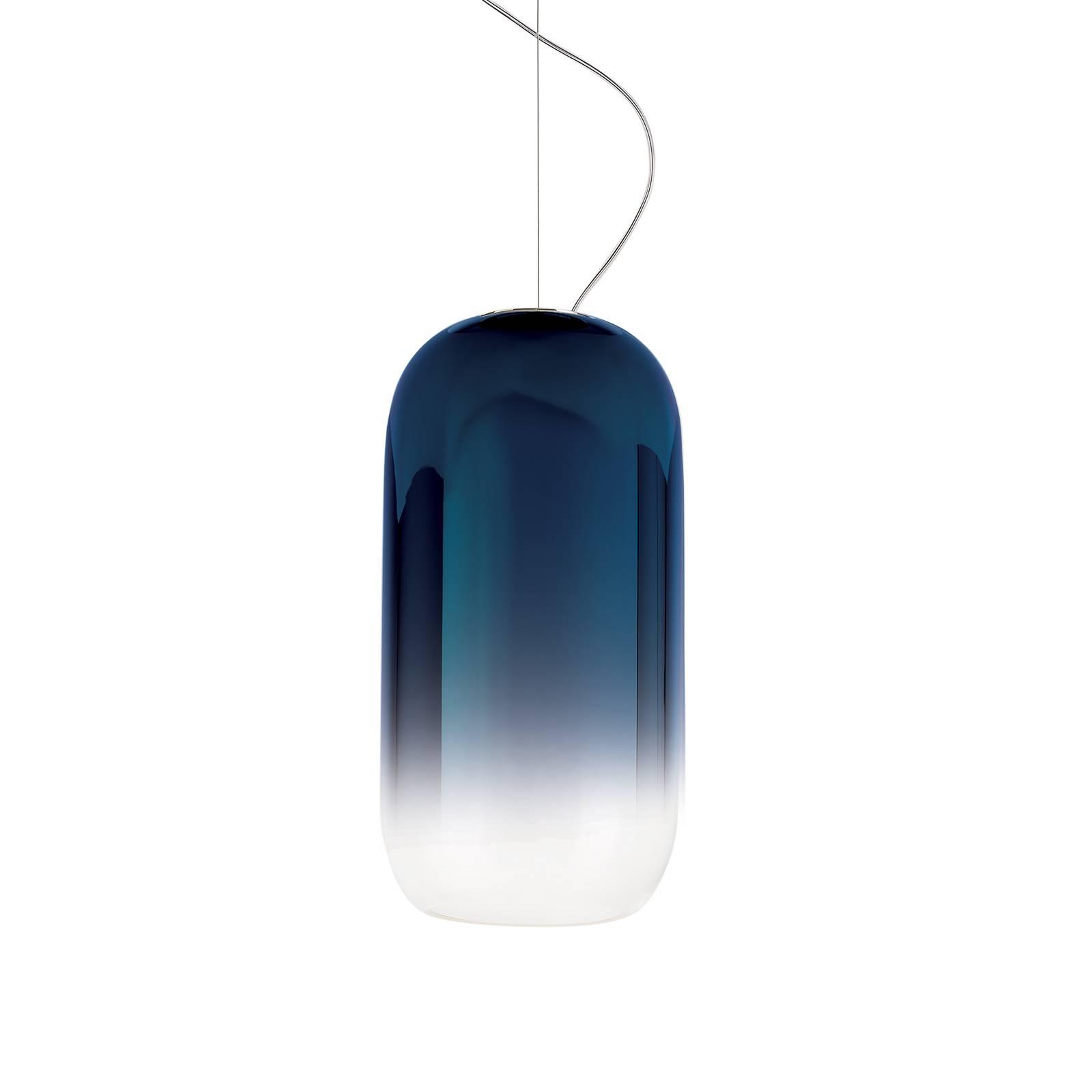 Artemide Gople Hängeleuchte blau