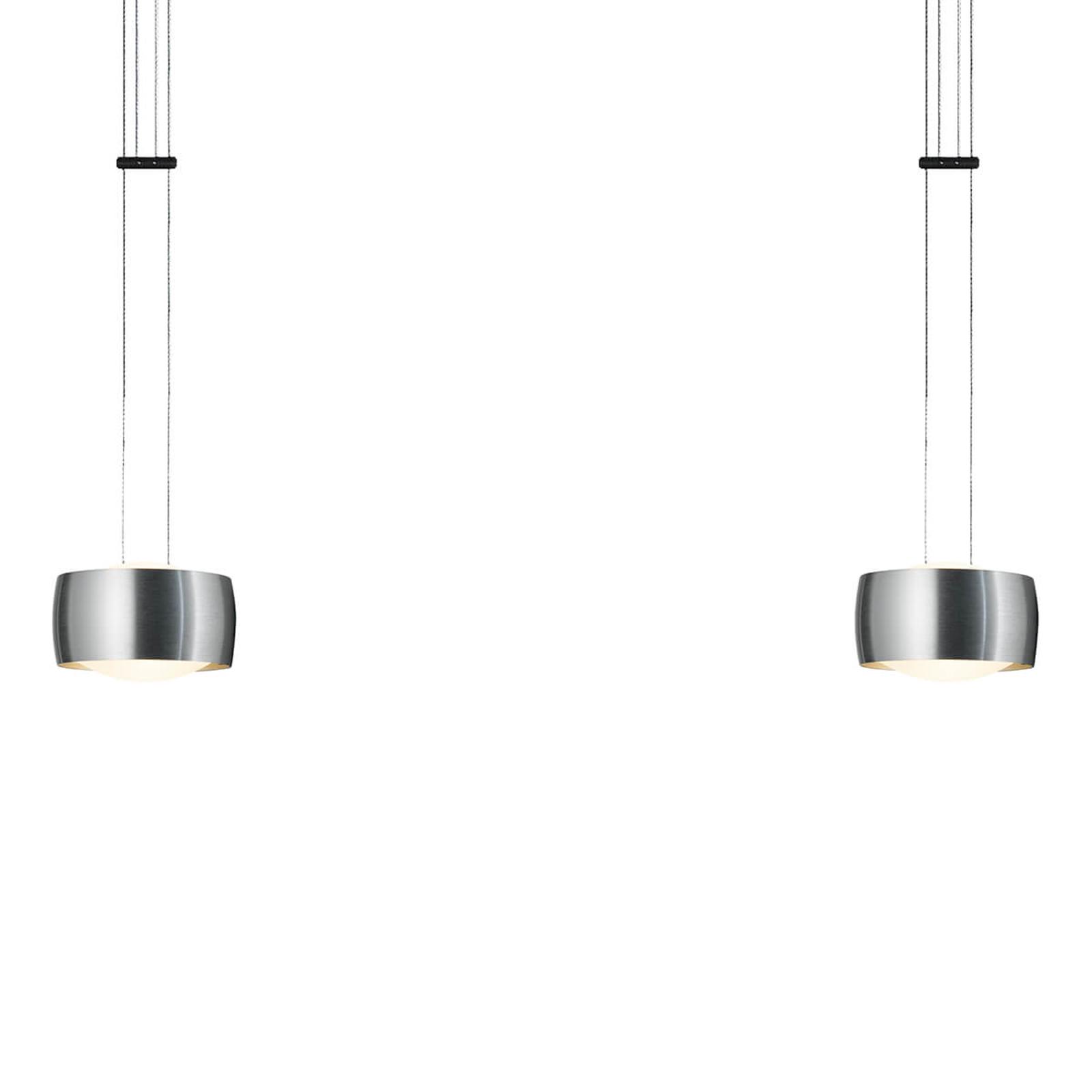 OLIGO Grace lampa wisząca LED 2-punktowa alu